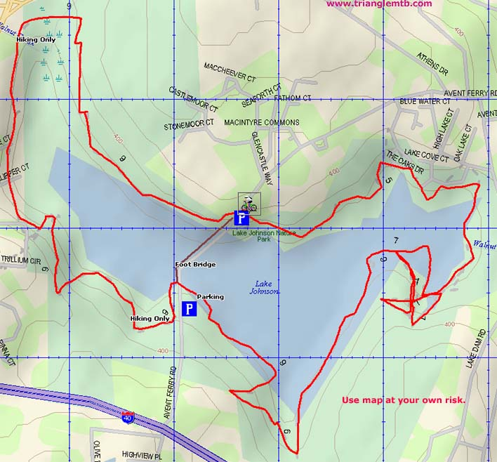 TriangleMTBcom Your Source For Mountain Biking In RaleighDurham - Johnson lake map