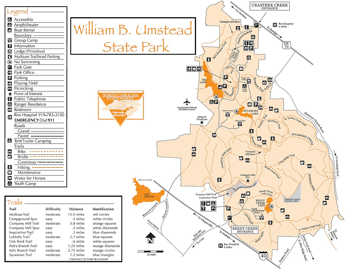 Umstead Park Map TriangleMTB.com, your source for mountain biking in Raleigh Durham